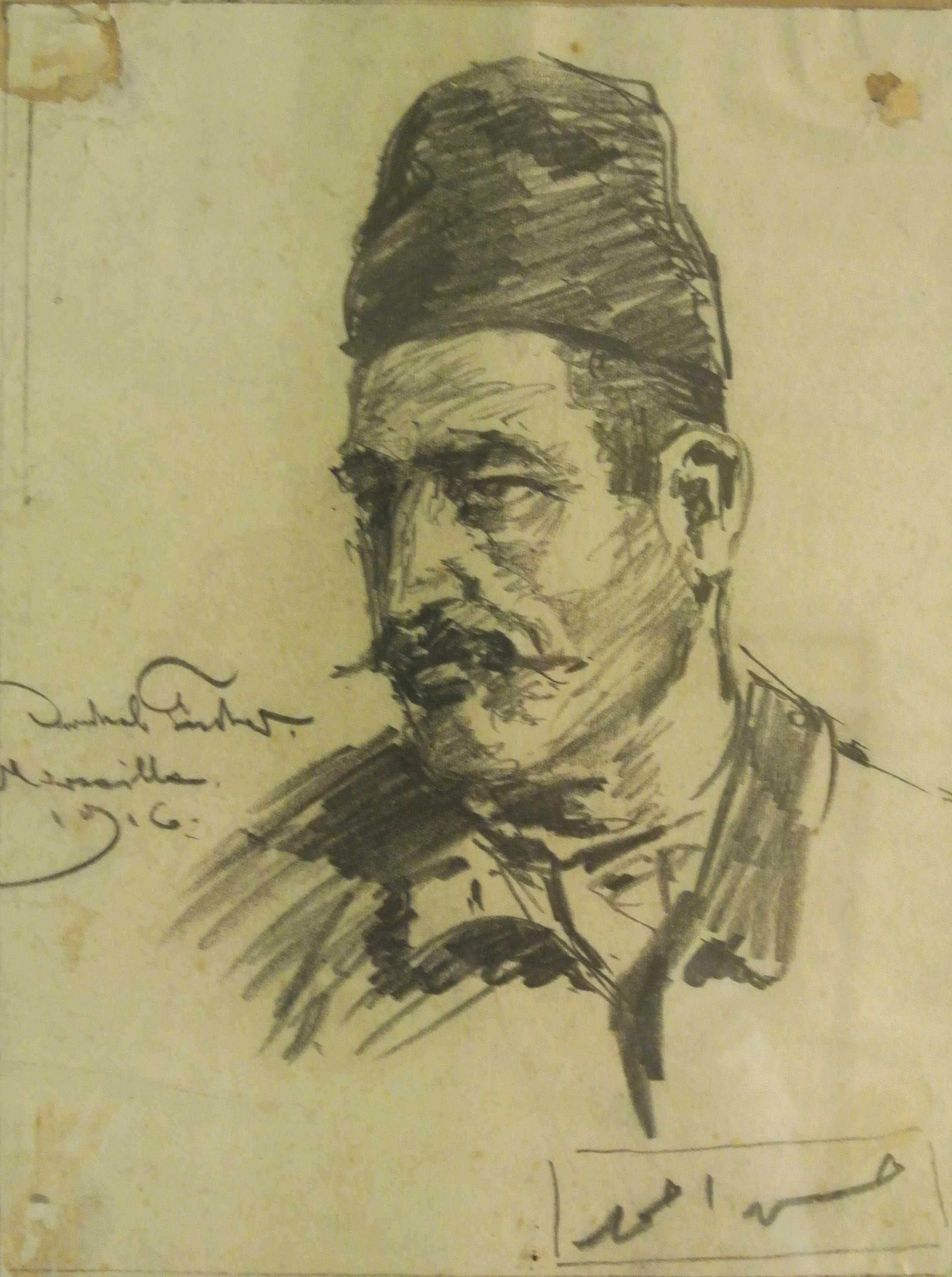 Araber, Marseille, 1916, für vergrößerte Ansicht anklicken!