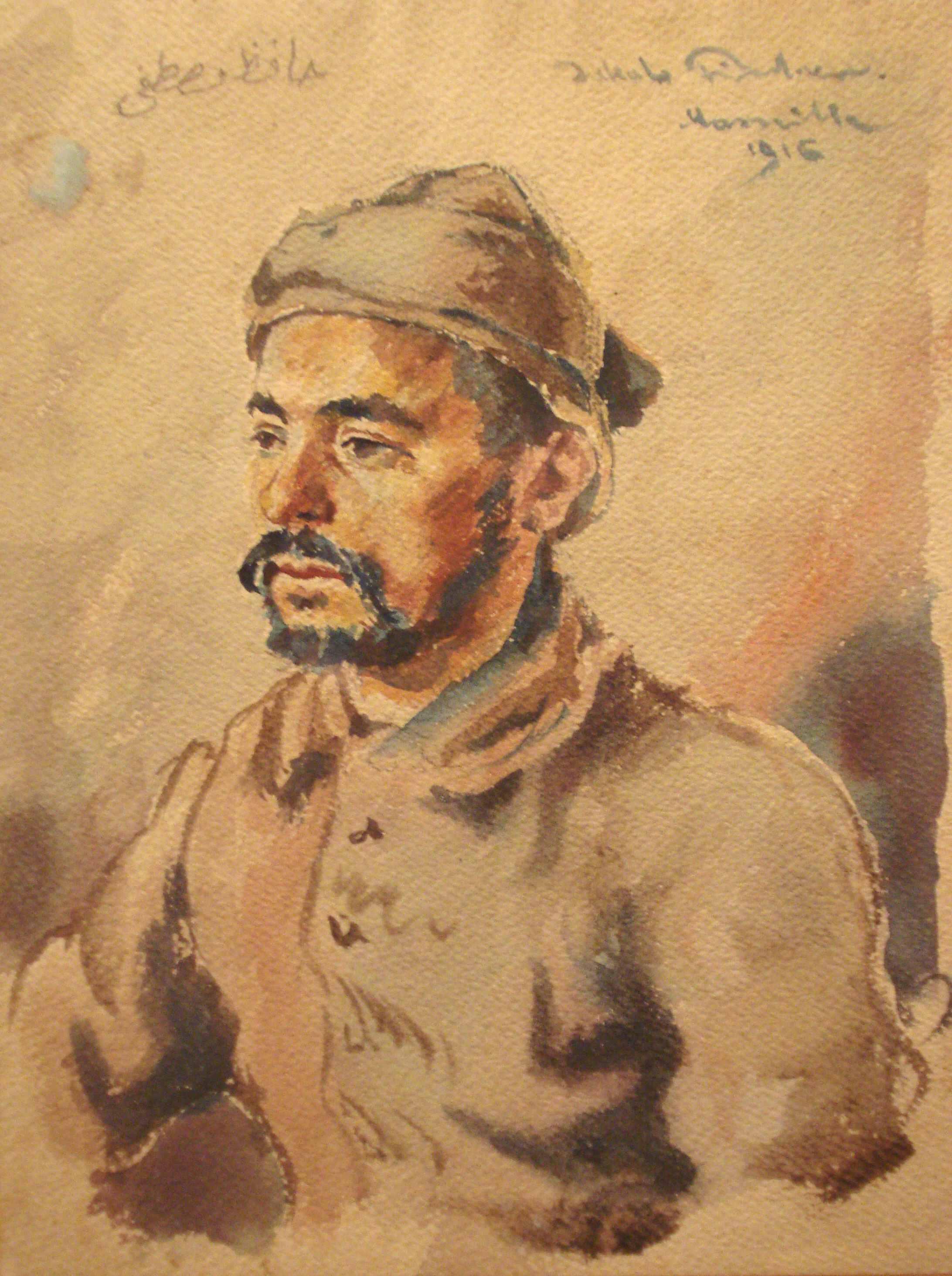 Asiatischer Türke, Marseille, 1916, für vergrößerte Ansicht anklicken!