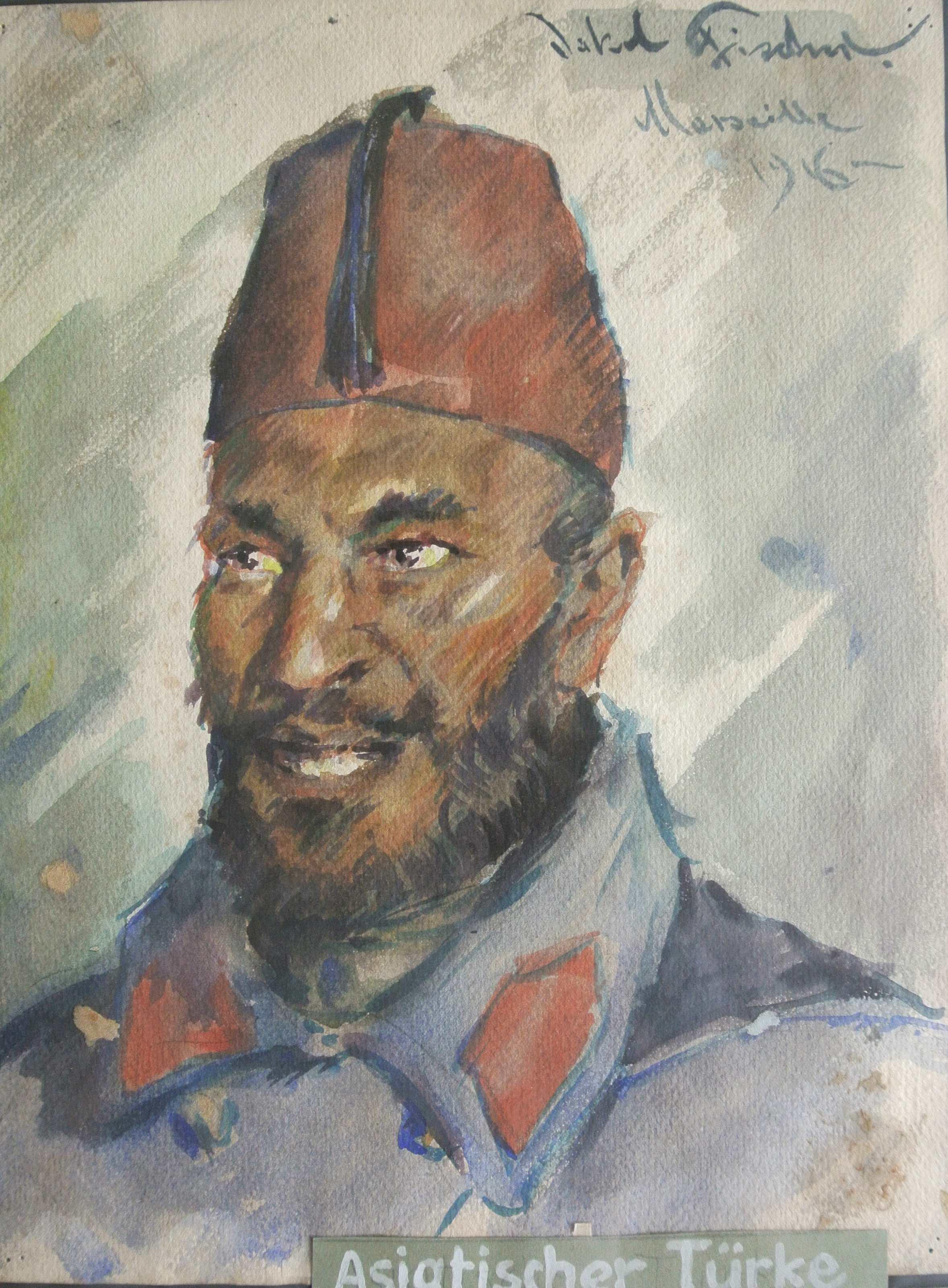 Asiatischer Türke, 1916, für vergrößerte Ansicht anklicken!
