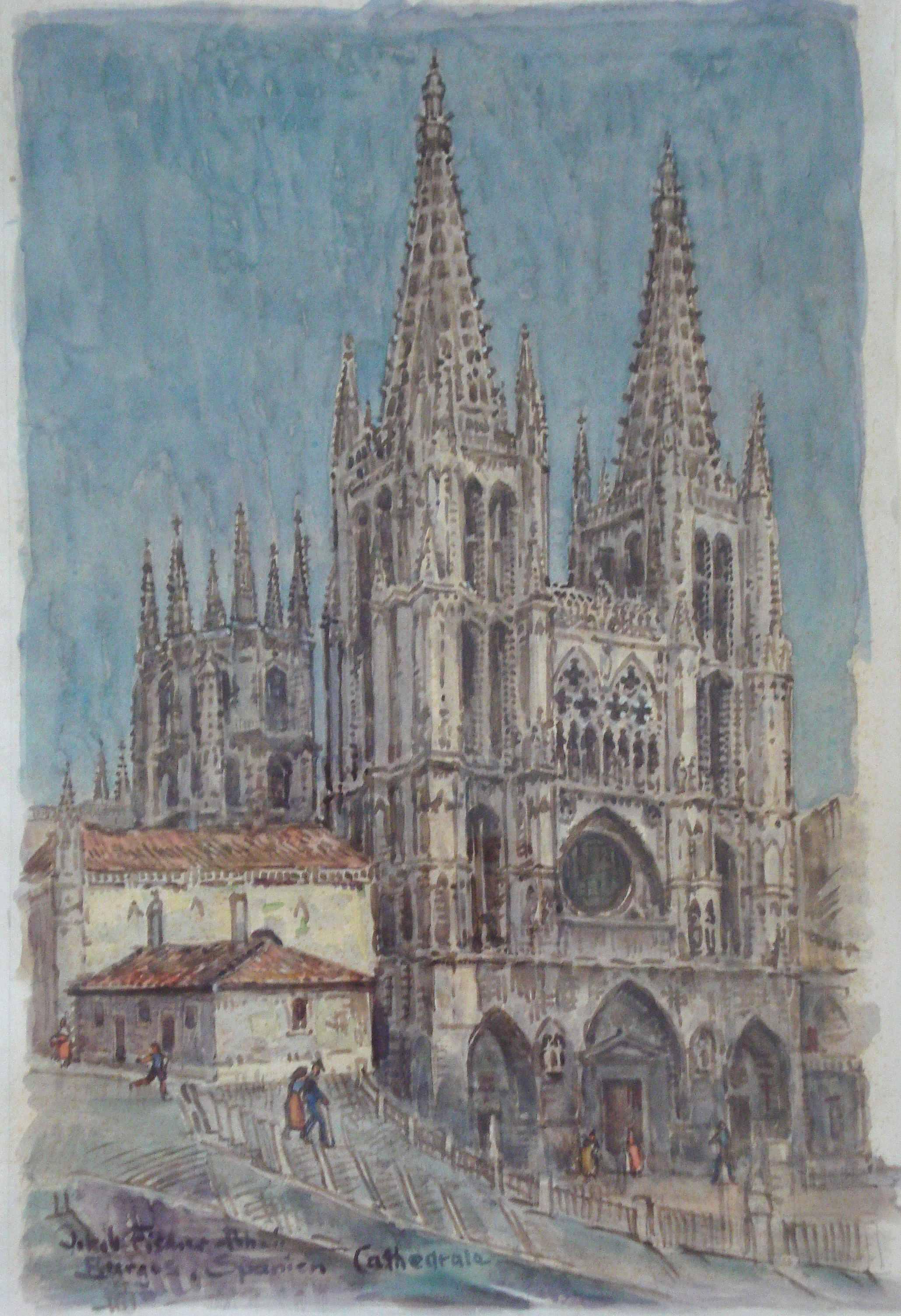 Burgos, Spanien, Cathedrale, ohne Jahr, für vergrößerte Ansicht anklicken!