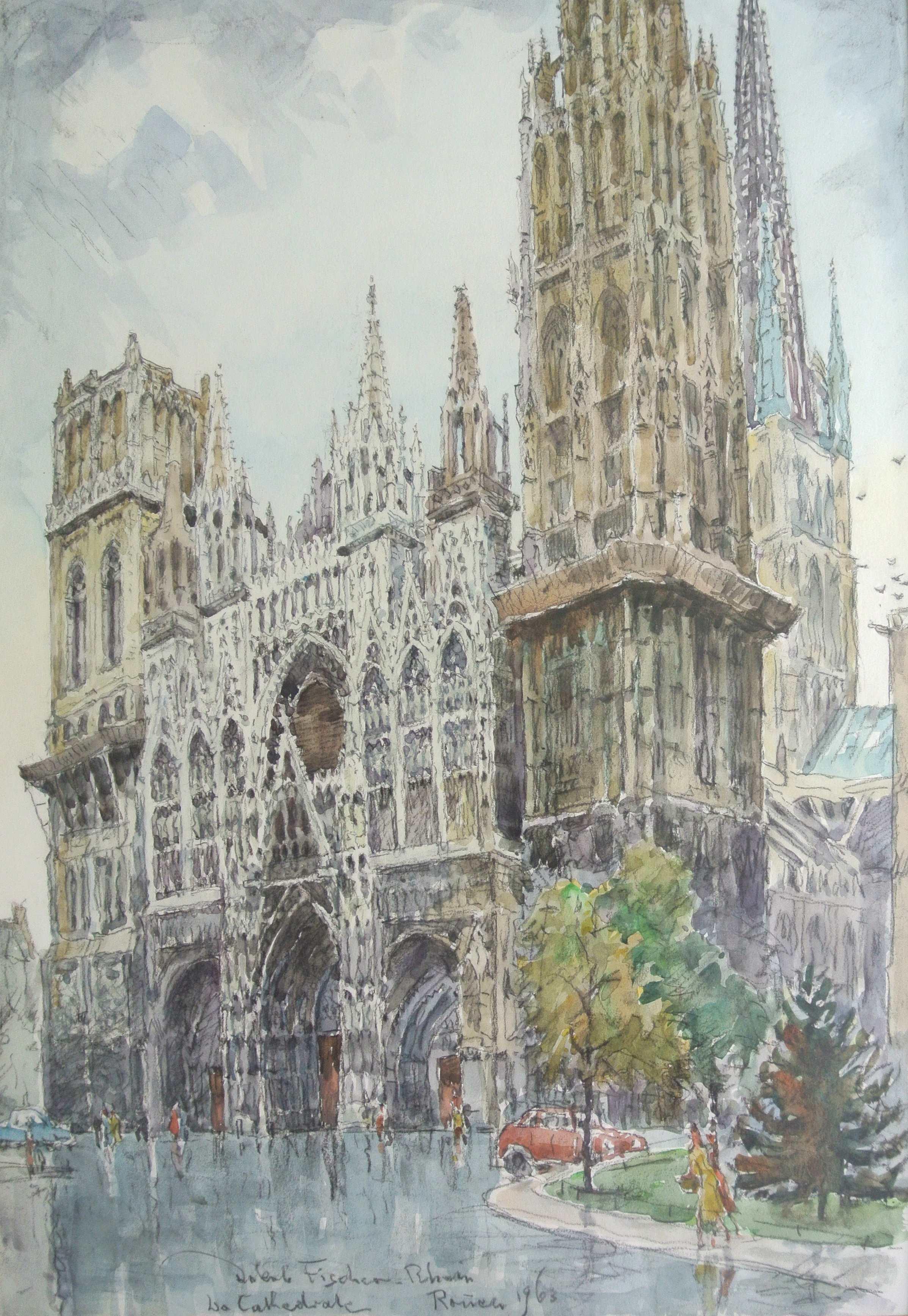 La Cathedrale, Rouen, 1963 für vergrößerte Ansicht anklicken!