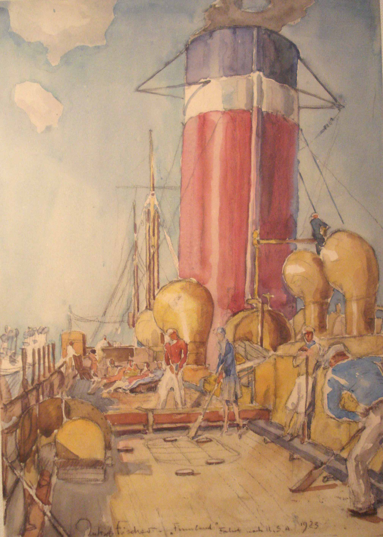 Fahrt nach USA, 1923, für vergrößerte Ansicht anklicken!