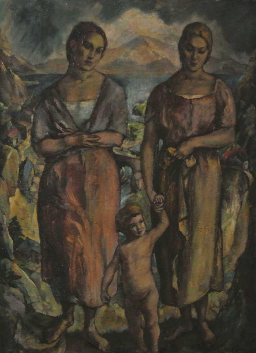 Zwei Frauen mit Kind, 1915, für vergrößerte Ansicht anklicken!