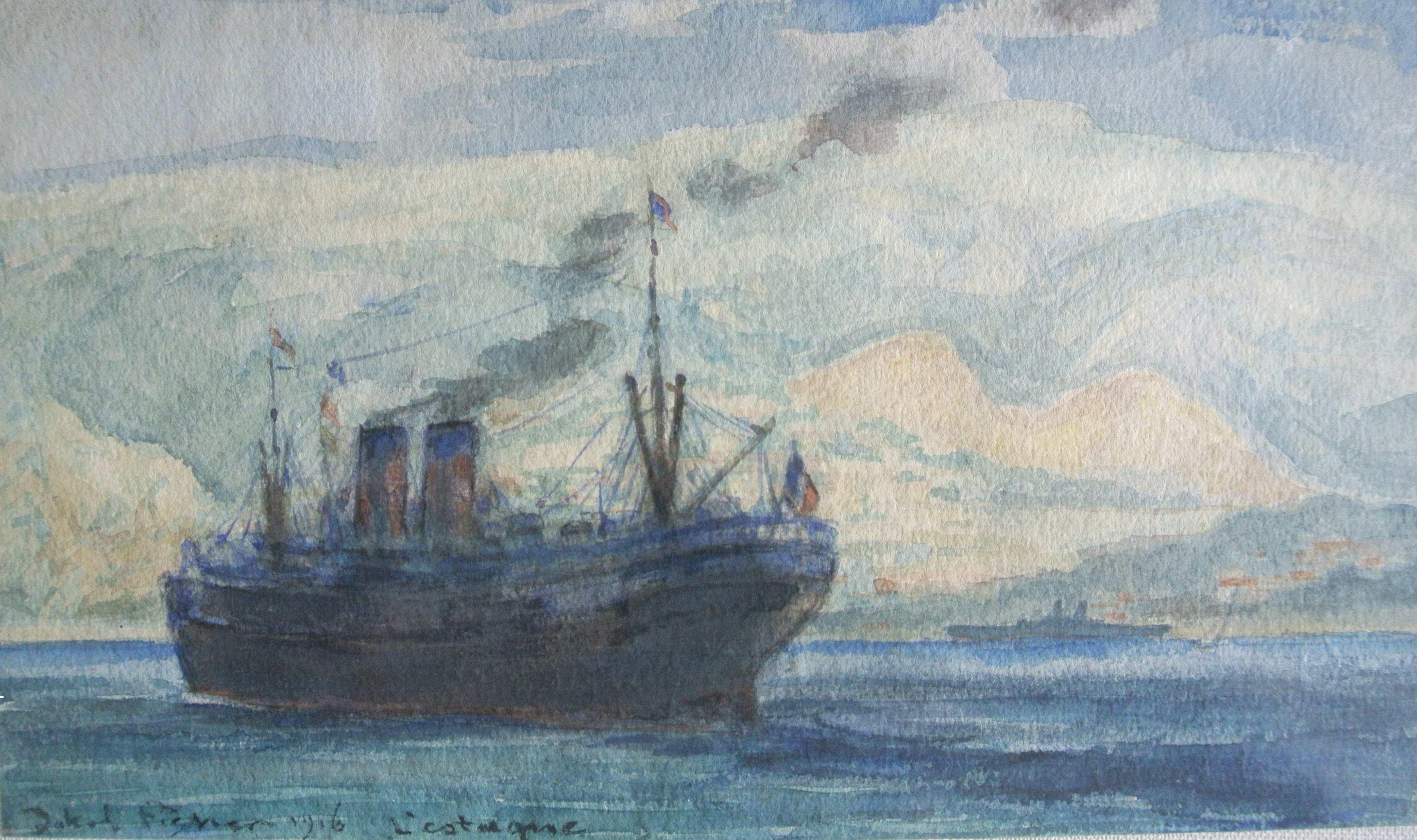 L'estaque Marseille, 1916, für vergrößerte Ansicht anklicken!