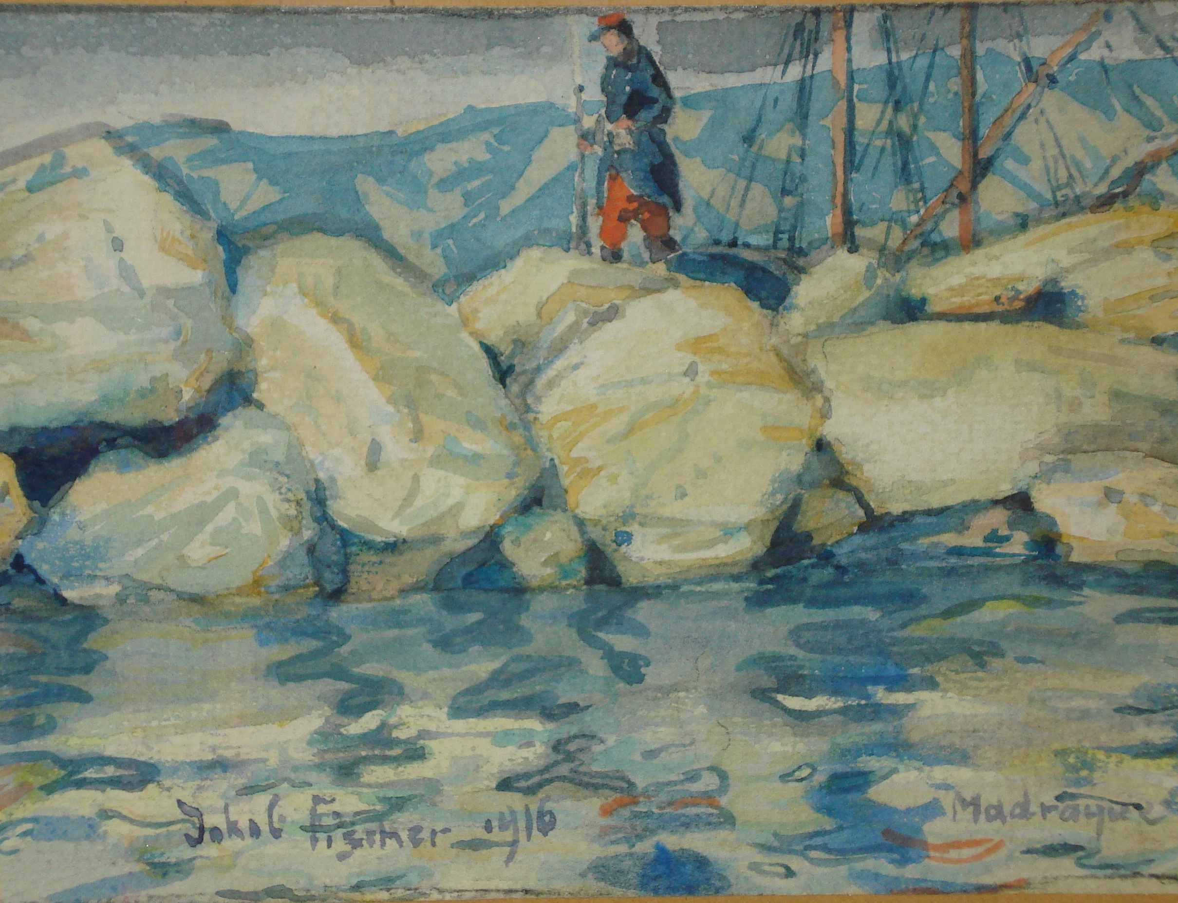 Madrague, Aquarell 1916, für vergrößerte Ansicht anklicken!