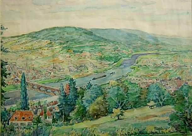Miltenberg, Aquarell um 1940