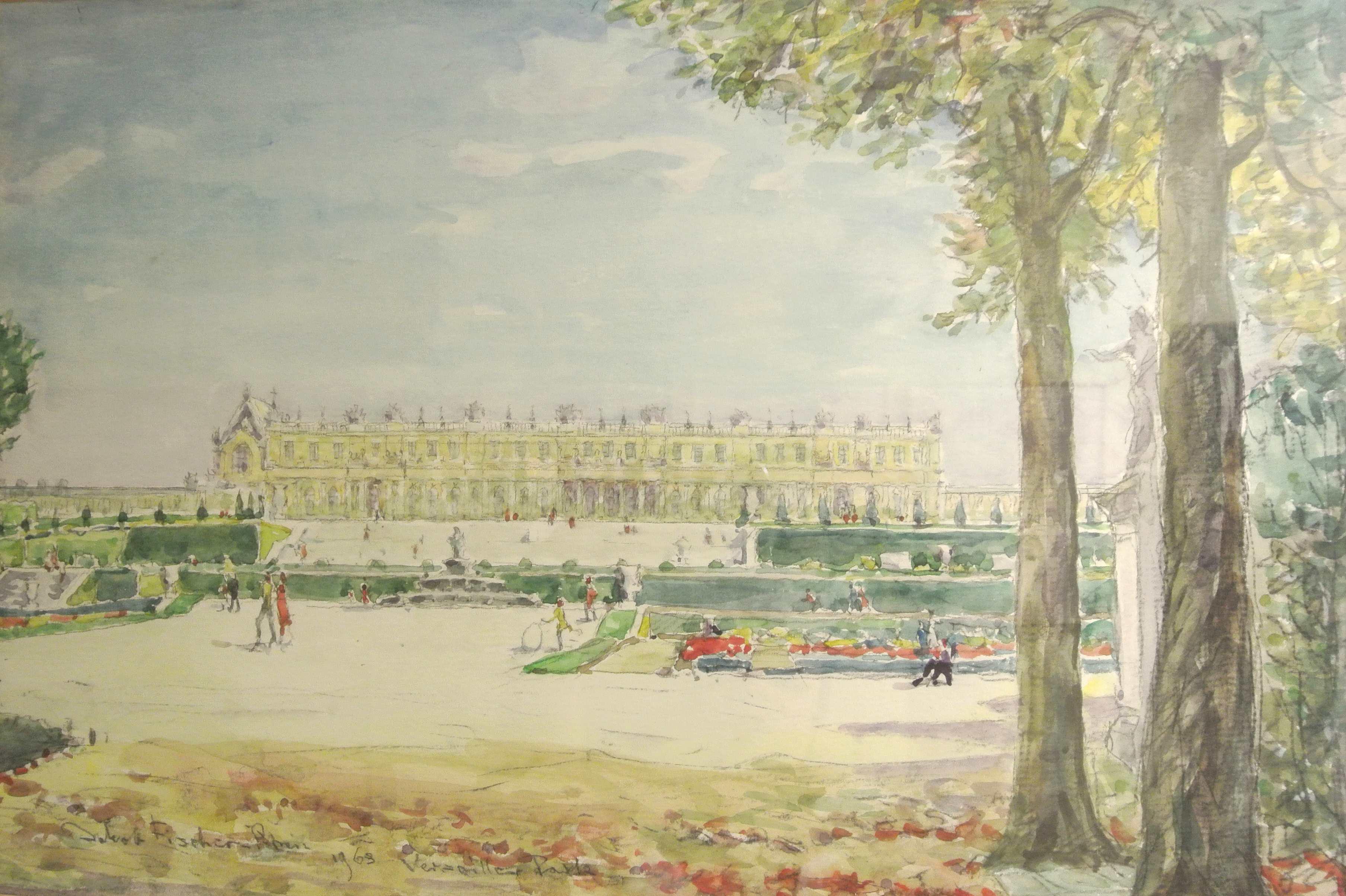 Park von Versailles, 1969 für vergrößerte Ansicht anklicken!