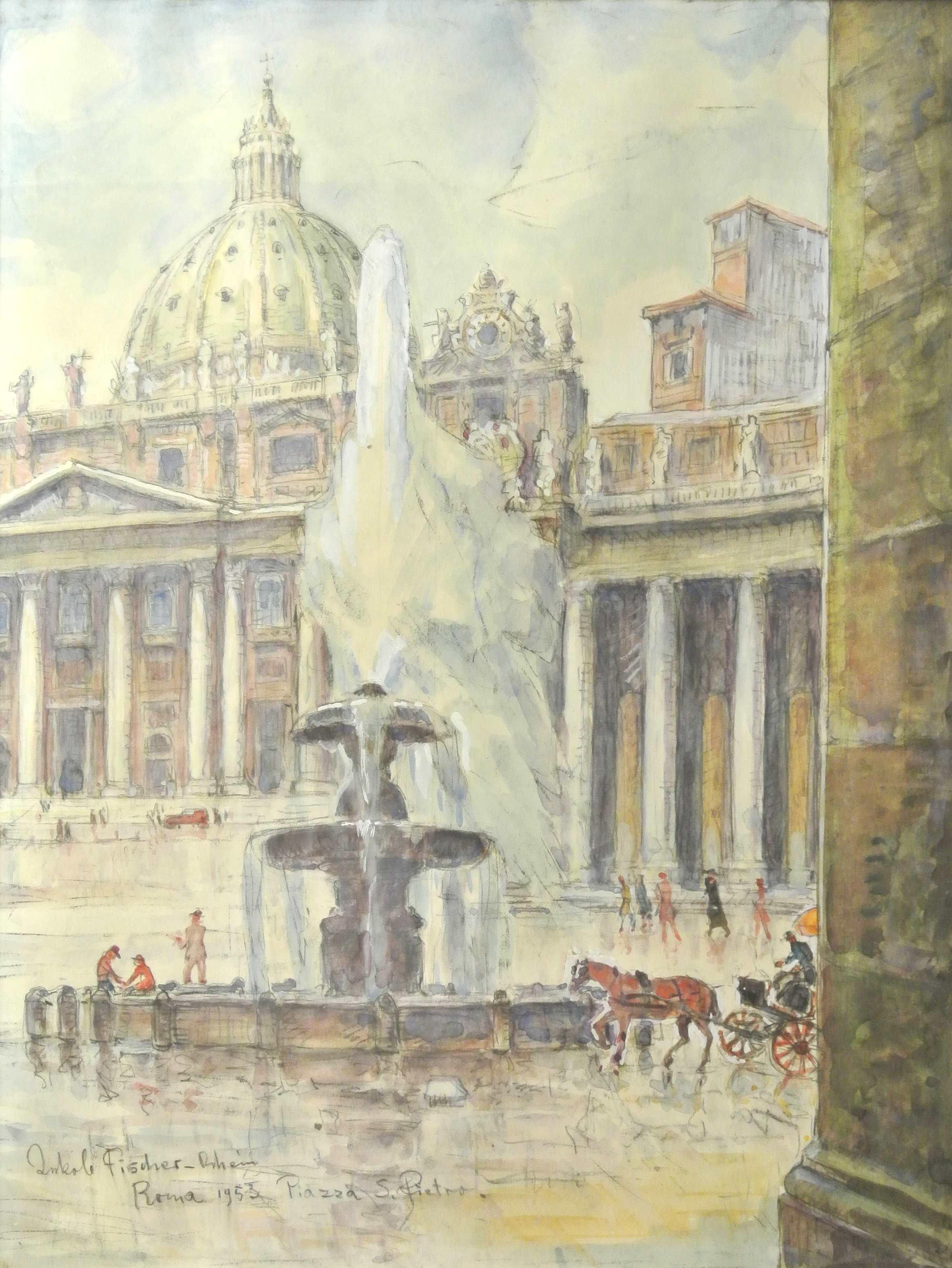 Piazza S.Pietro, Rom, 1953 für vergrößerte Ansicht anklicken!