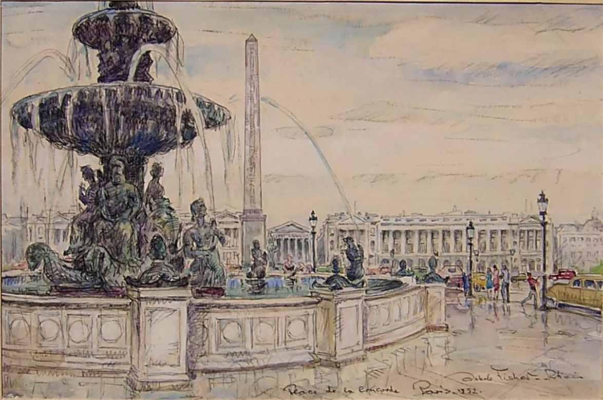 Place de la Concorde, Paris, 1952