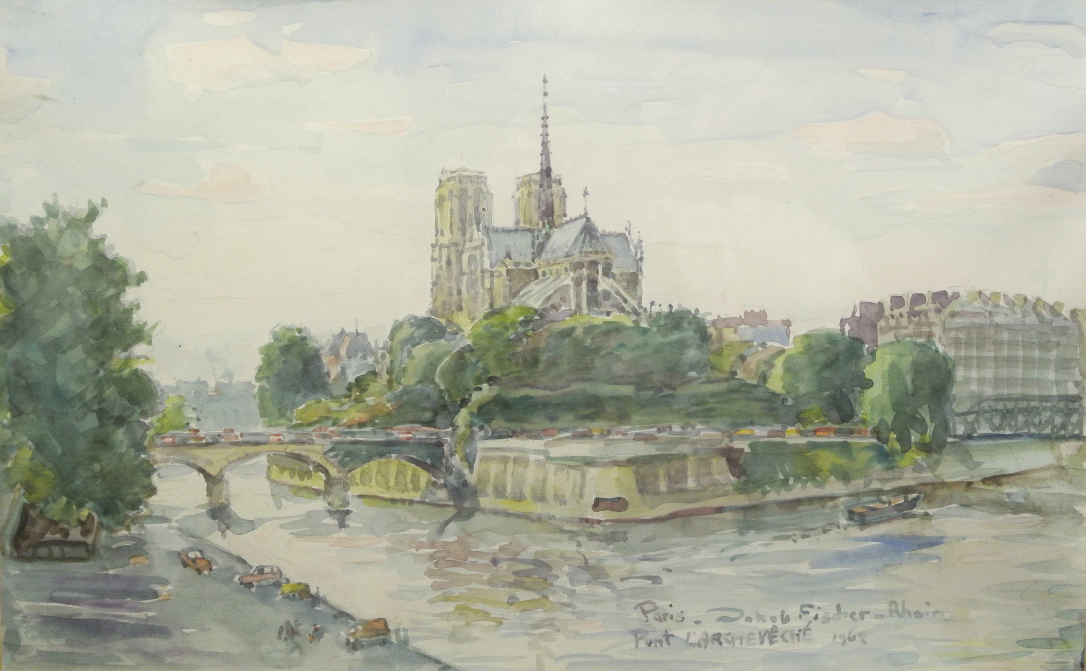 Pont de L´Archêveché (Paris), 1968, für vergrößerte Ansicht anklicken!