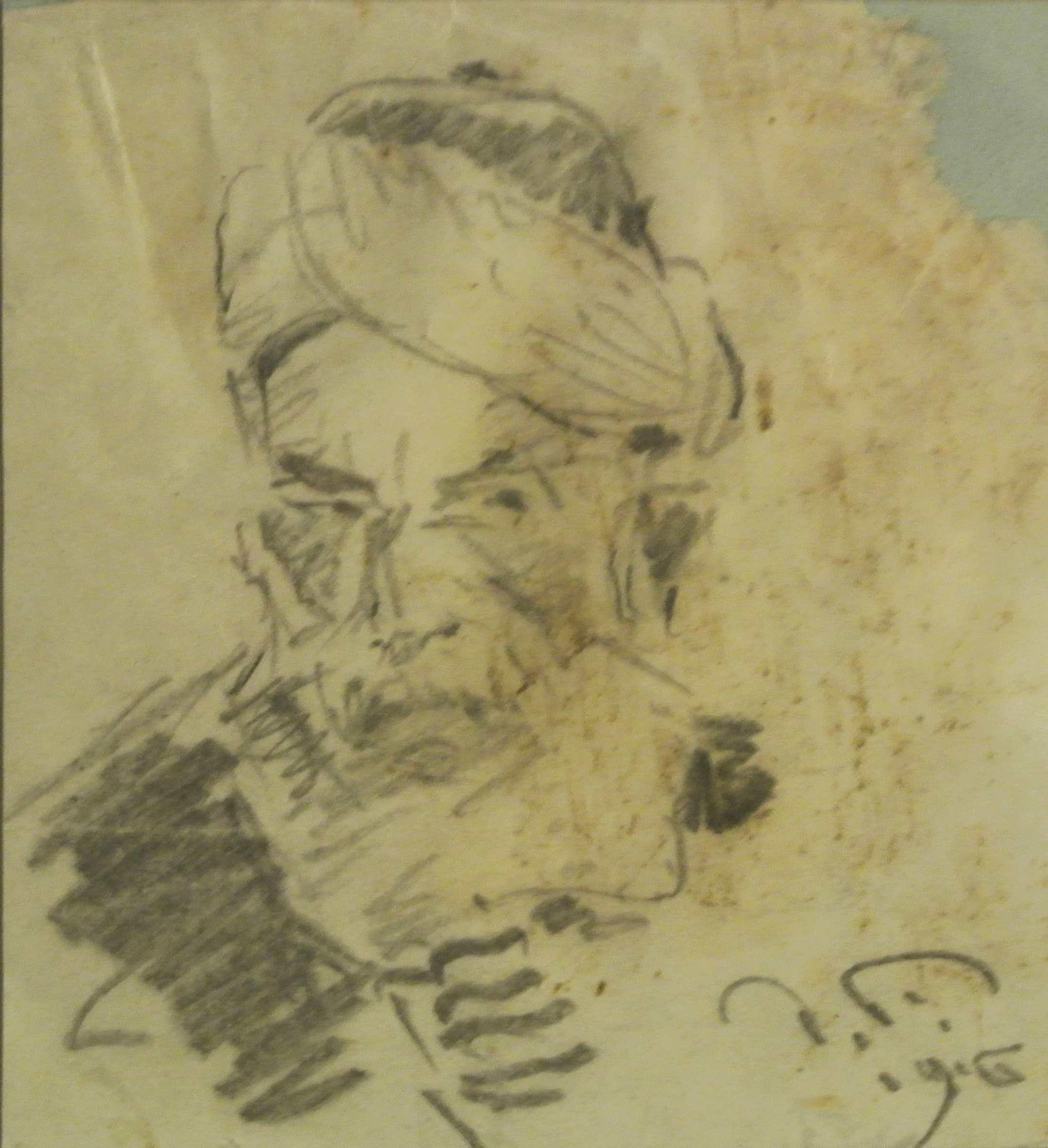 Portrait eines Türken, 1916, für vergrößerte Ansicht anklicken!