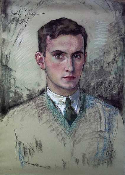 Portrait, 1927,von Jakob Fischer-Rhein! Zur vergrößerten Ansicht anklicken!