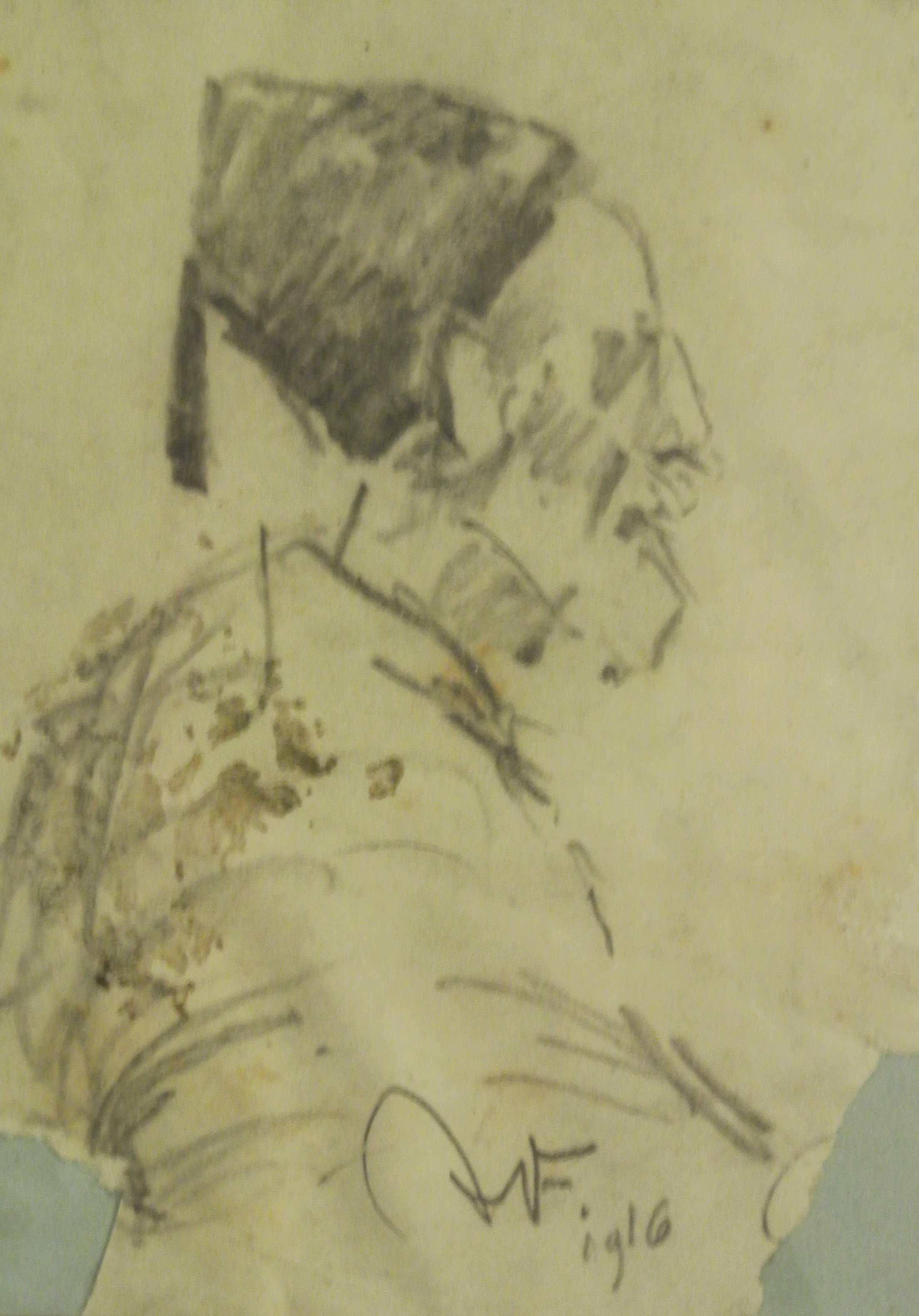 Portrait, Türke, 1916, für vergrößerte Ansicht anklicken!