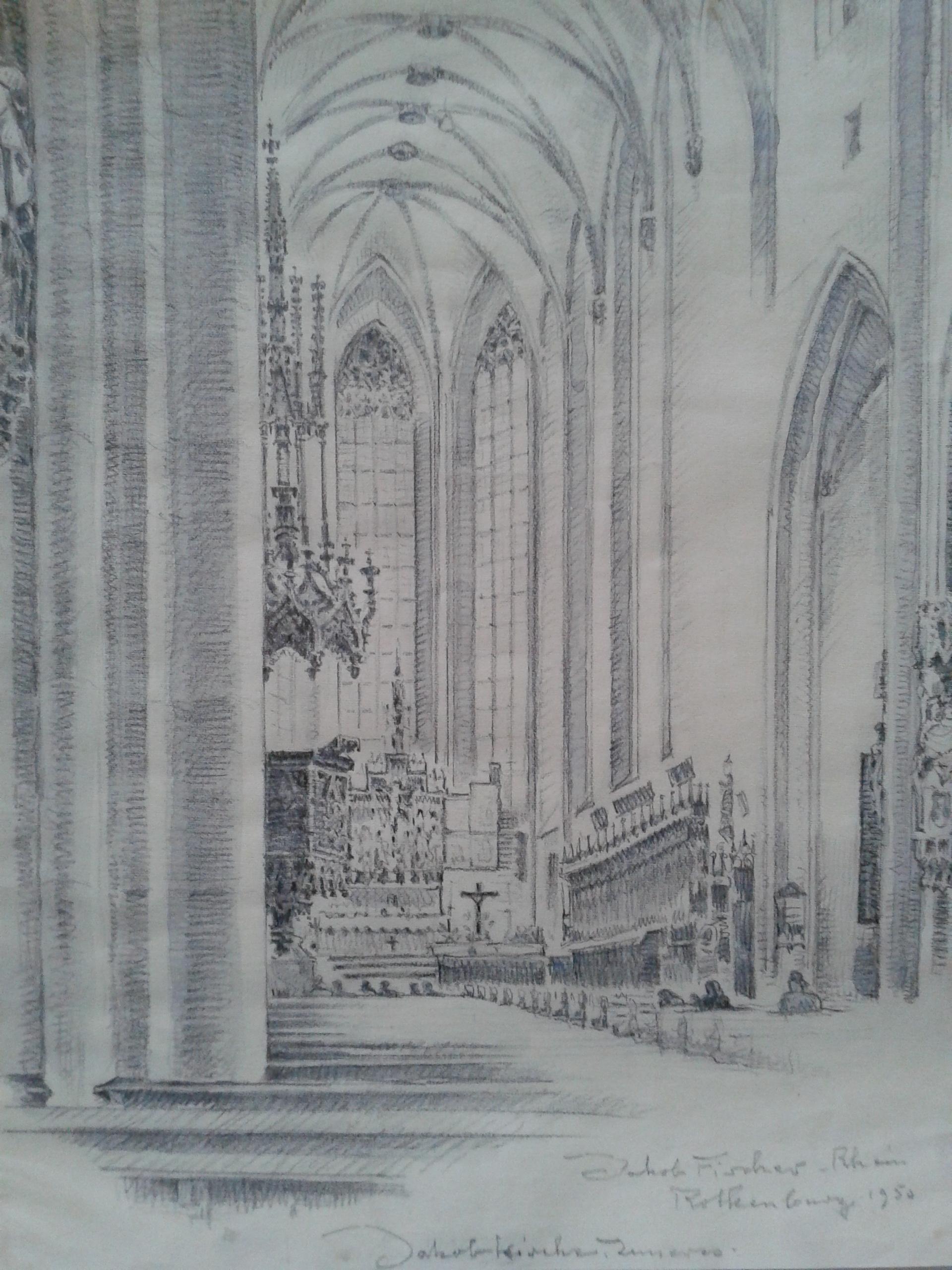 Jakobskirche, Rothenburg ob der Tauber, 1950, für vergrößerte Ansicht anklicken!