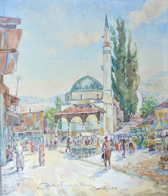 Sarajevo Moschee, 1955, für vergrößerte Ansicht anklicken!