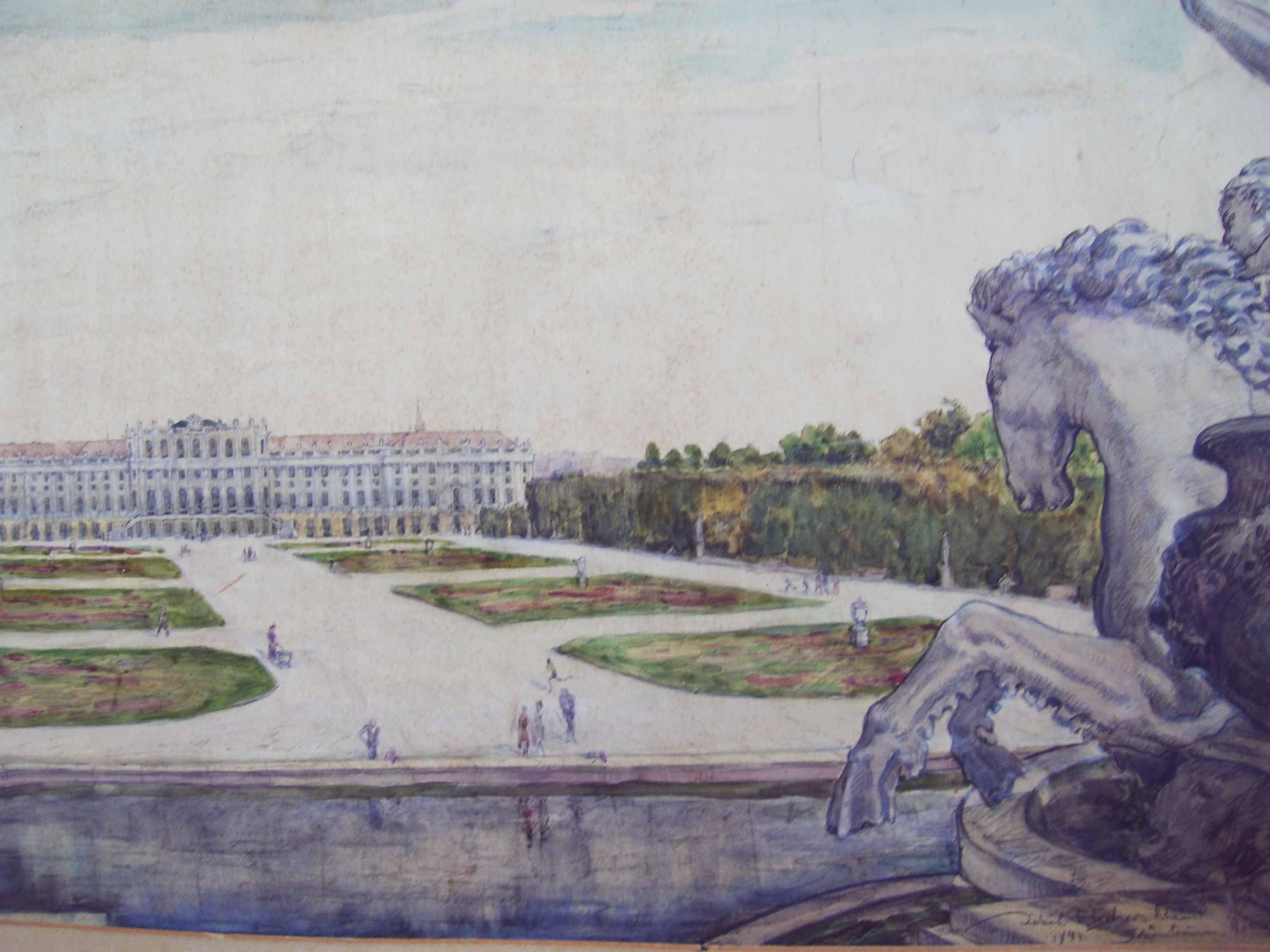 Schloss Scvhönbrunn, Wien, 1941, für vergrößerte Ansicht anklicken!