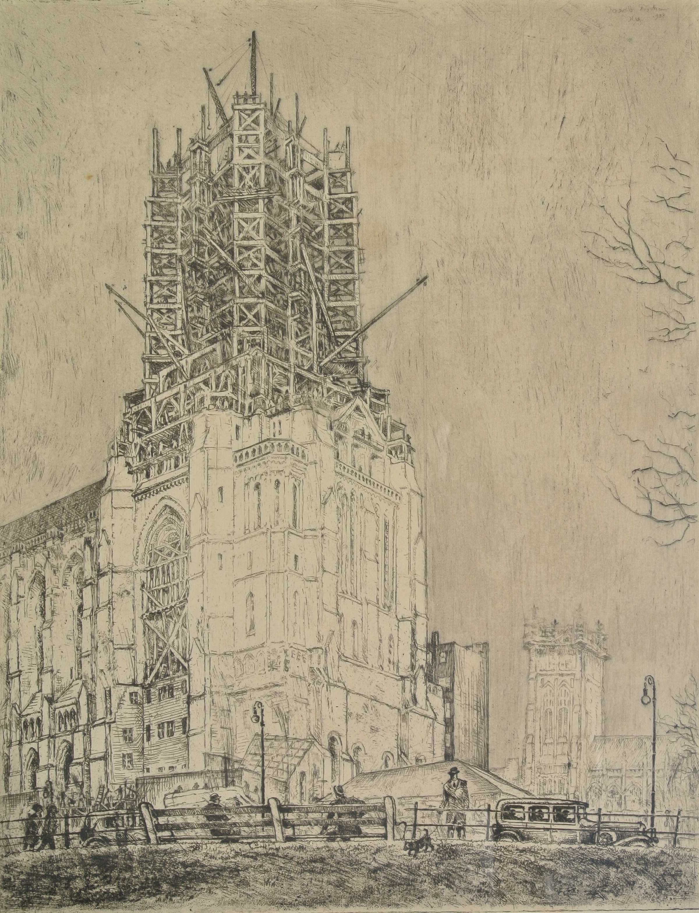 St. Patrick's Cathedral, New York, 1928, für vergrößerte Ansicht anklicken!