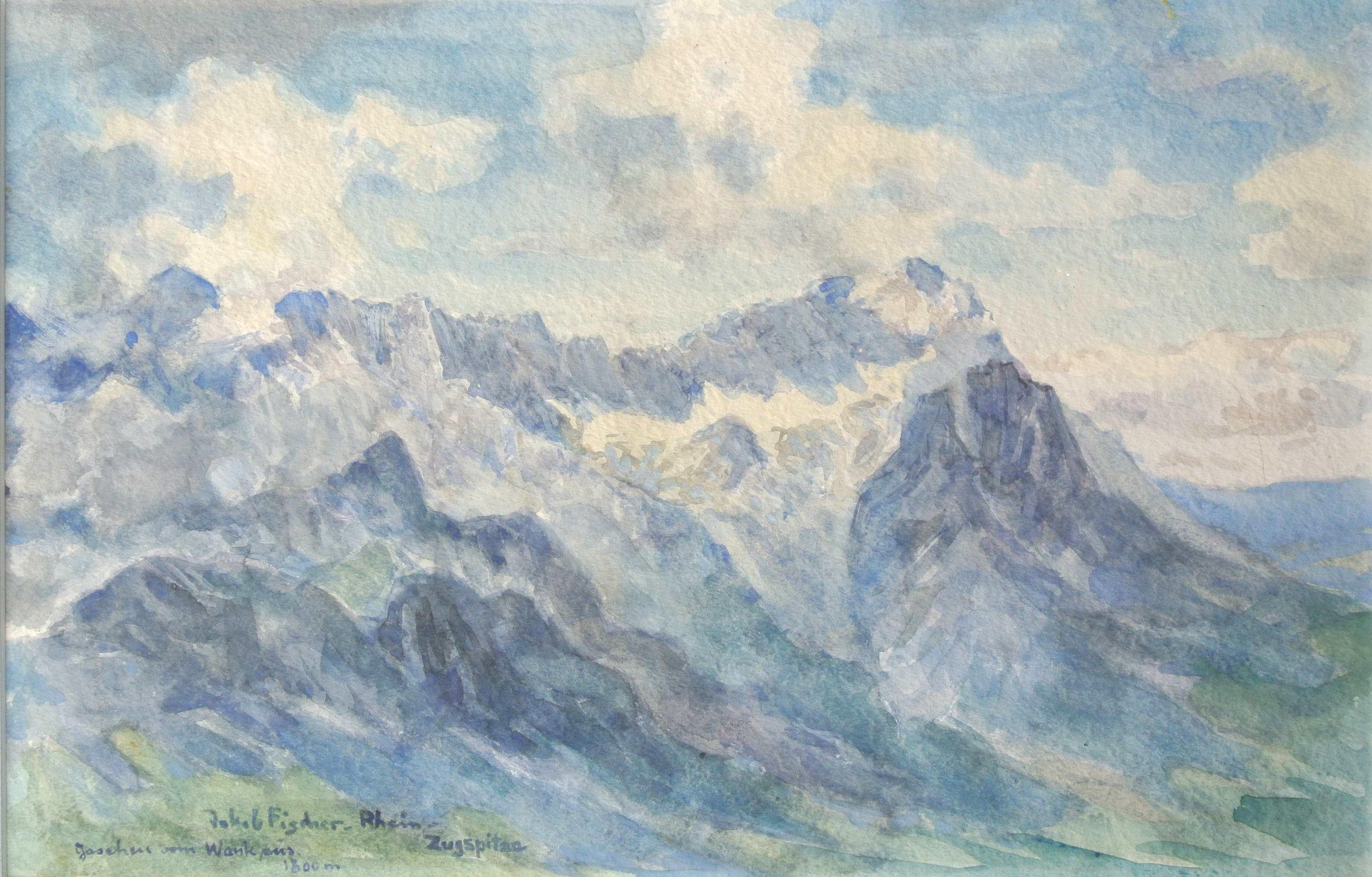 Zugspitze, um 1946, für vergrößerte Ansicht anklicken!